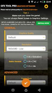 GFX Tool Pro for PU Battlegounds Mod APK – 60FPS 1