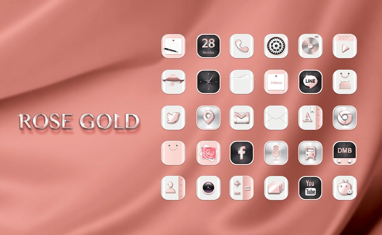Google theme rose - Hd Rose Gold Widgetpack Theme Screenshot