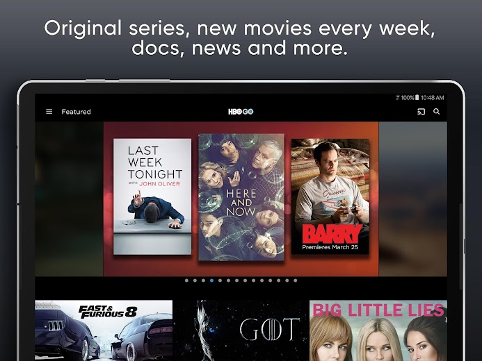 Screenshot 7 for HBO GO's Android app'