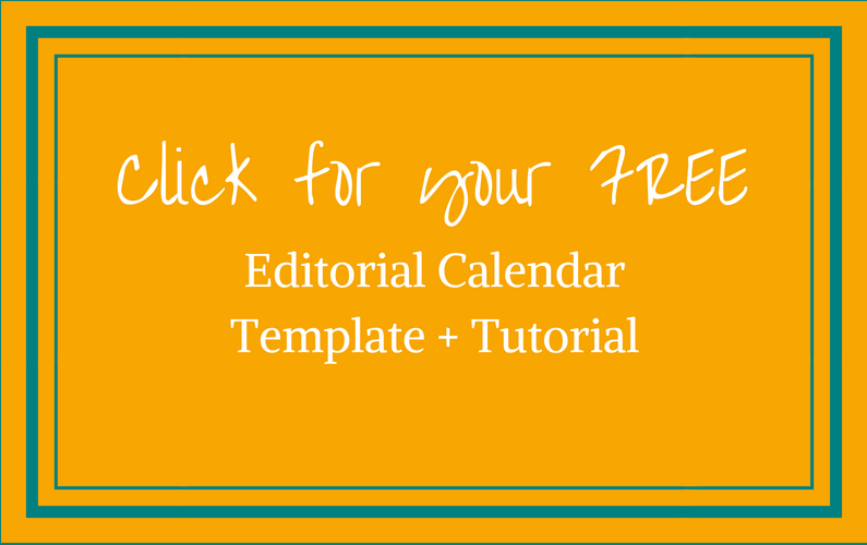 Editorial Calendar template for bloggers