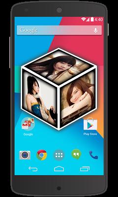 Photo 3D Cube Live Wallpaper - screenshot