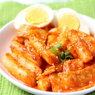 Korean Spicy Rice Cakes.
