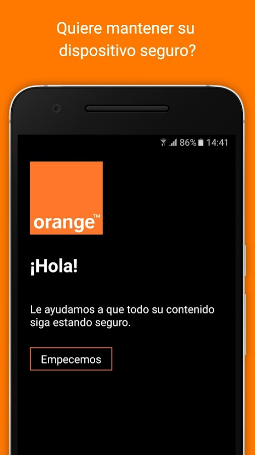 Seguro Orange: captura de pantalla