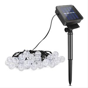 Instalatie solara LED 50 globulete, Alb rece