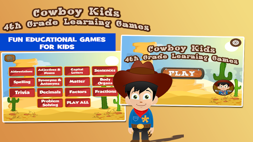 Cowboy Fourth Grade Games