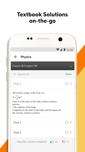 Screenshot 1 for Chegg's Android app'
