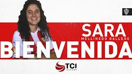 Sara Mollinedo refuerza la defensa del equipo femenino.