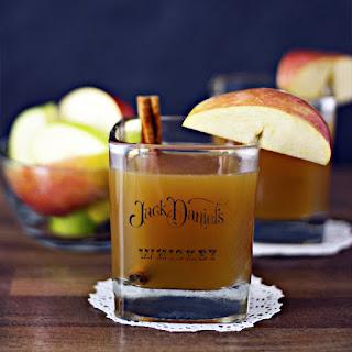 Apple Cider Bourbon Whiskey Cocktail.