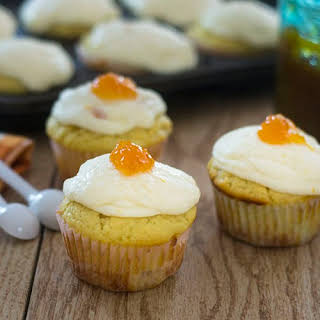 Ricotta Cupcakes with Marmalade Buttercream Frosting.