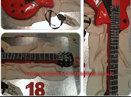 Guitar shaped cake
