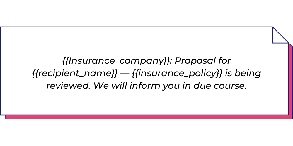 Use this insurance WhatsApp template to send policy update messages.