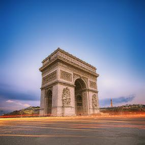 Arc De Triomphe by Luca Libralato - Buildings & Architecture Statues & Monuments ( paris, tour eiffel, arc de triomphe, long exposure, france )