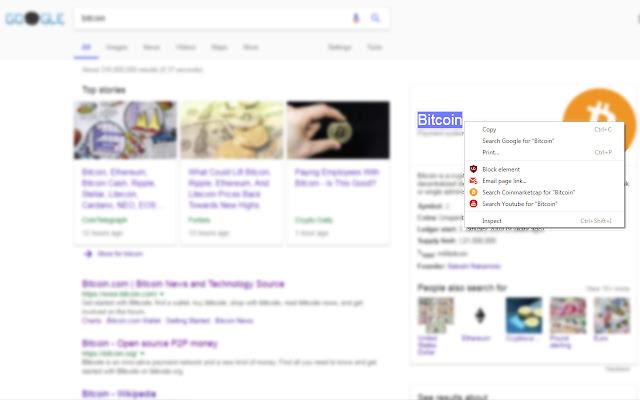Search CoinMarketCap Right Click