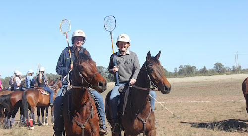 Narrabri's two Australian international under-16 players Jessie Melbourne (Galloping Gully Polocrosse Club) and Makayla Elford (Narrabri Polocrosse Club).