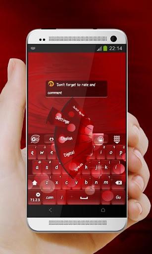 玩免費個人化APP|下載閃亮的紅色 GO Keyboard app不用錢|硬是要APP