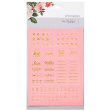 Webster´s Pages Color Crush Planner Foil Embossed Stickers - Pink UTGÅENDEWords