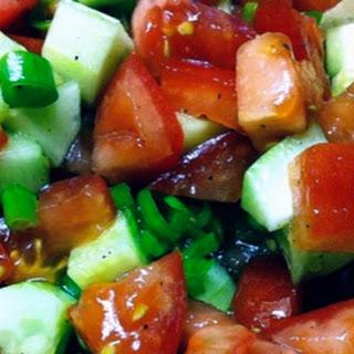 Simple Tomato, Cucumber and Vidalia Onion Salad.