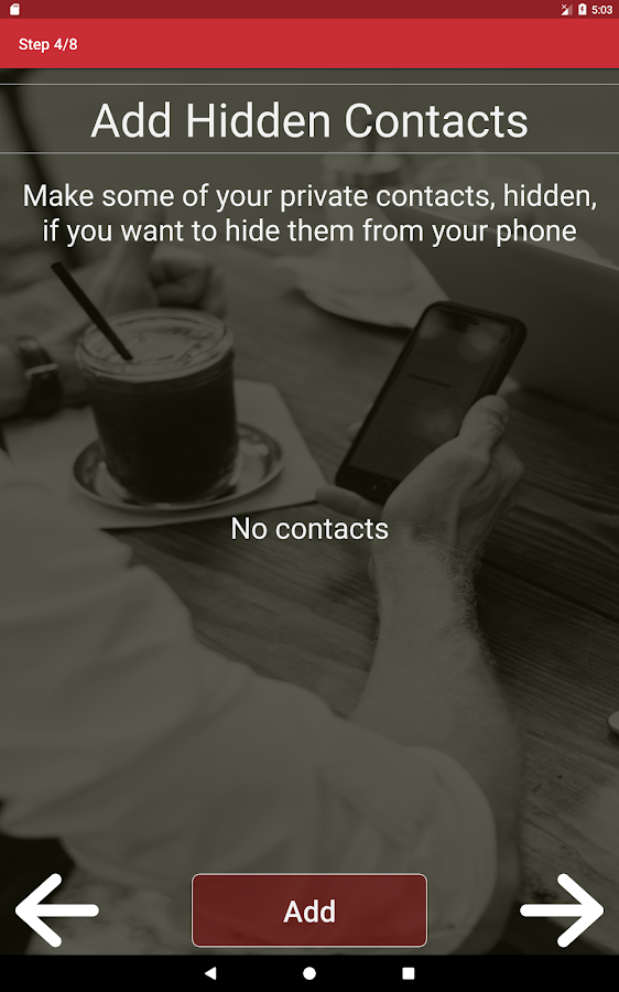 Eclipse Free - Hide Files, Incoming SMS And Calls- screenshot