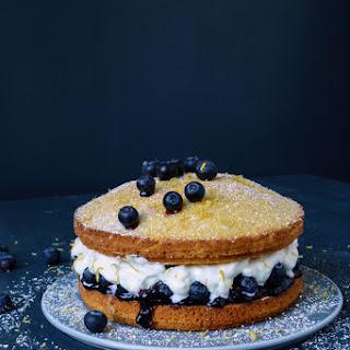 Blueberry Victoria Sponge Cake