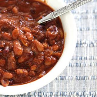 Spicy Three Bean Venison Chili.