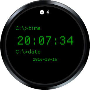 DOS Watch Face Screenshot