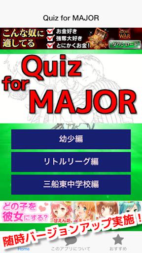 クイズ for メジャー 人気漫画無料クイズゲーム