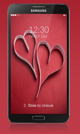 爱情密码锁屏
