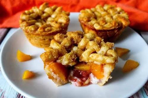 Strawberry Peach Easy Pies