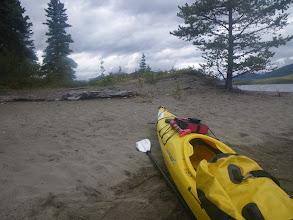 Photo: nach Durchquerung des Sandy Lake sind wir jetzt auf dem Big Salmon Lake