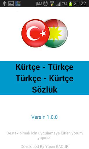 Kürtçe Türkçe Sözlük