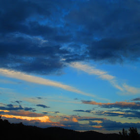 Sunset, 8/25/13 by Samantha Walls - Landscapes Cloud Formations