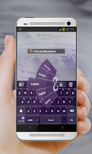 Purple Infinity GO Keyboard
