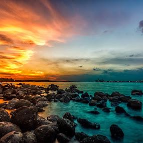Punggol Beach by GokulaGiridaran Mahalingam - Landscapes Beaches ( punggol beach, singapore, punggol )