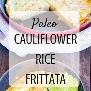 Paleo Cauliflower Rice Crusted Frittata