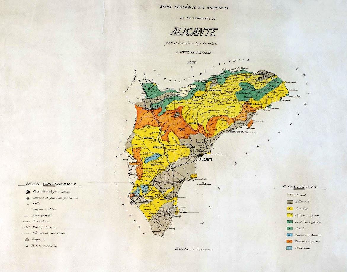 Mapa geológico de Alicante