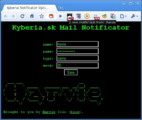 Kyberia Mail Notifier