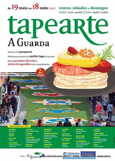 Entre la amplia oferta gastronómica de Tapearte 2017, destacamos tapas para todos los gustos, piruletas de lomo, hamburguesas, canapés, sushi, espetos, tostas... con los mejores productos de la tierra y del mar.