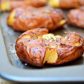 Roasted Smashed Potatoes.
