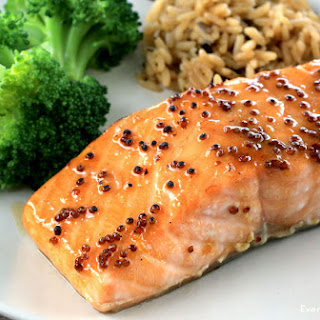 Honey Mustard Glazed Salmon