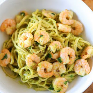 Shrimp & Avocado Pasta.