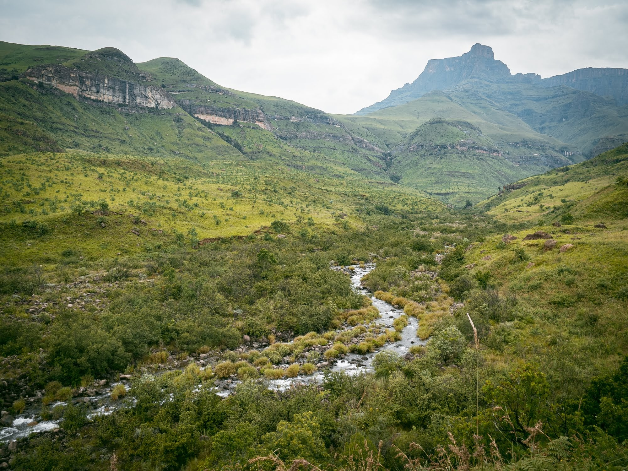 cascade hike, royal natal, south africa