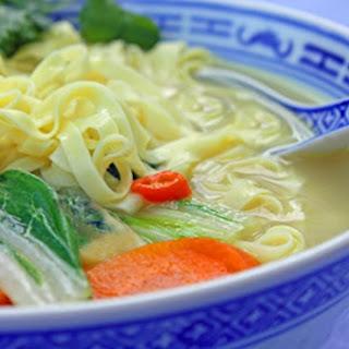 Thai Vegetable Coconut Soup with Noodles Recipe