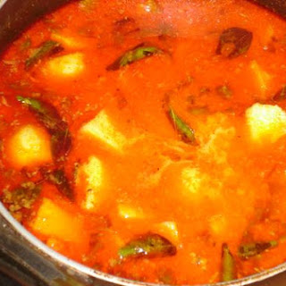 Potato Curry With Sauce