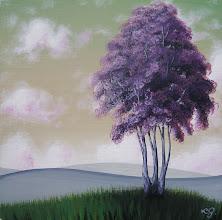 Photo: Lavender Clutch - 8x8 Acrylic on Panel