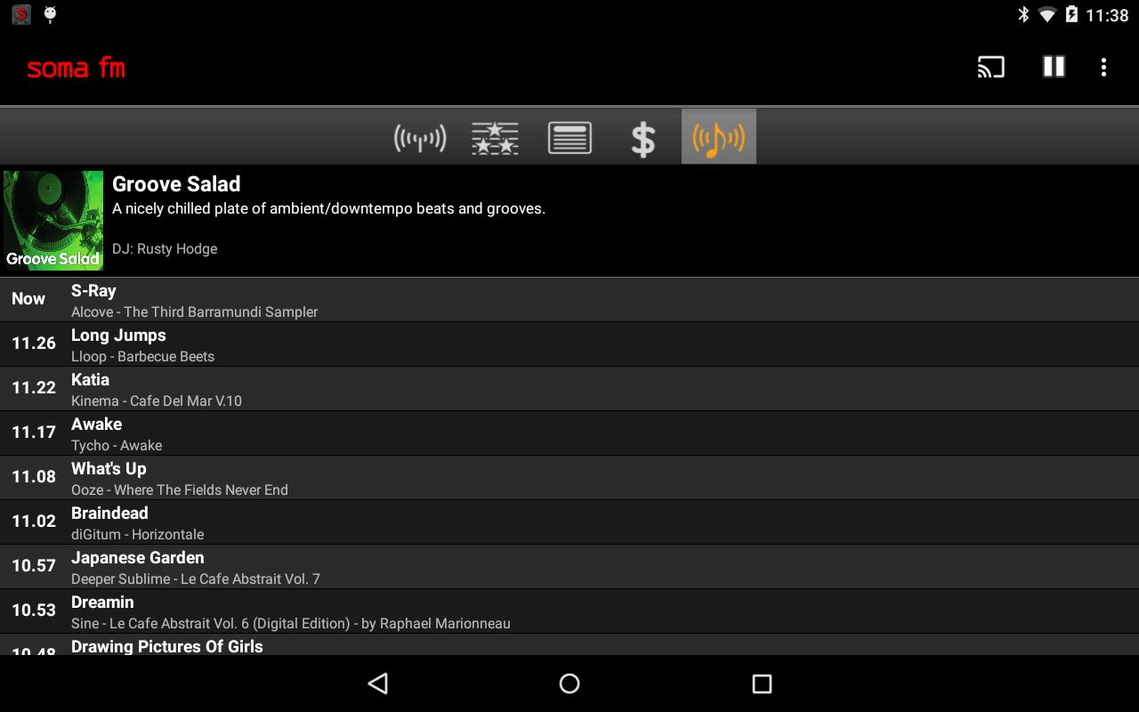 SomaFM Radio Player- screenshot