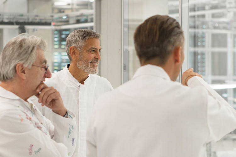 George Clooney visits Omega factory in Bienne, Switzerland