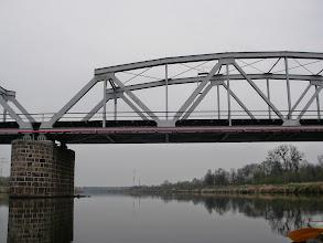 Photo: płyniemy sami, za kolejowym kawałeczek i będzie...