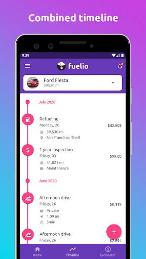 Fuelio: gas log, costs, car management, GPS routes screenshot 1
