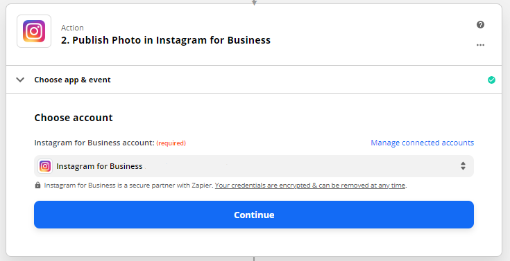 How to post on Instagram business account from RecurPost via Zapier