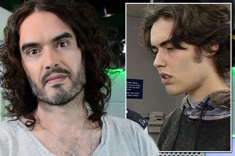 A side by side comparisson of photos of Russell Brand